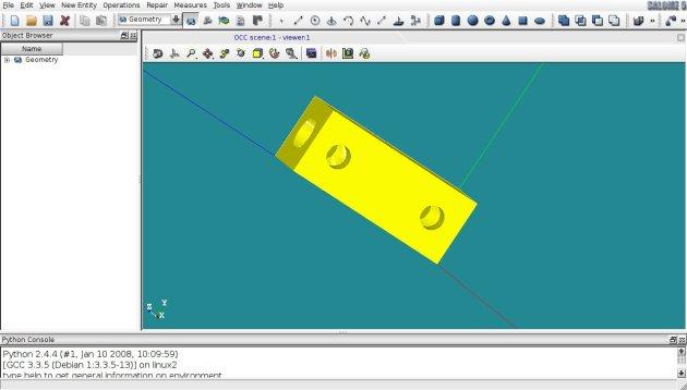 modello 3D realizzato con SALOME