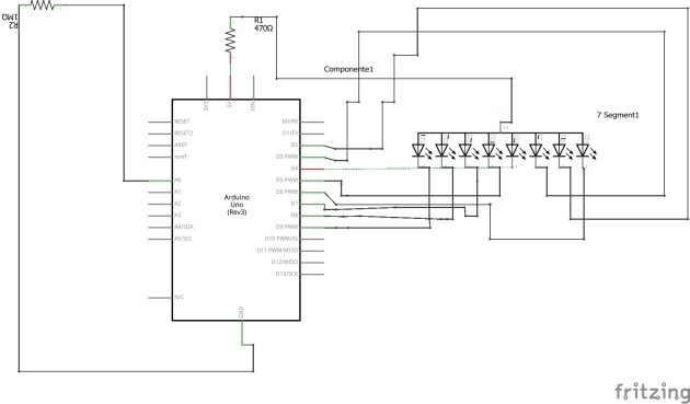 Schema rilevatore campi elettrici